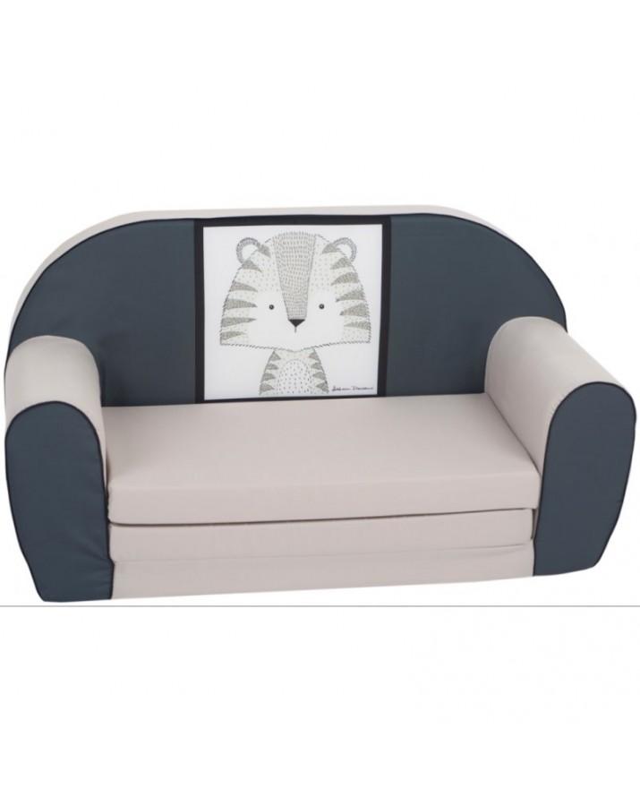 """Pilka sofa - """"Tigriukas"""""""