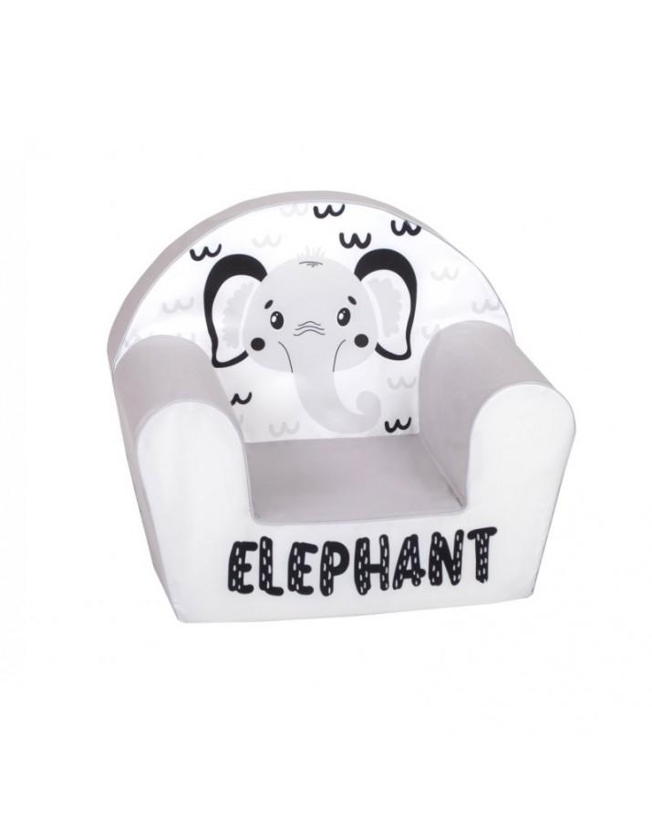 """Pilkas - švelnus foteliukas - """"Elephant"""""""