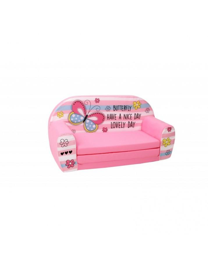 Rožinė minkšta sofa - &qu..