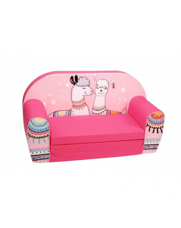 """Rožinė sofa - """"Dvi l.."""