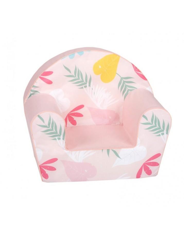 """Rožinis foteliukas - """"Gėlytės"""""""