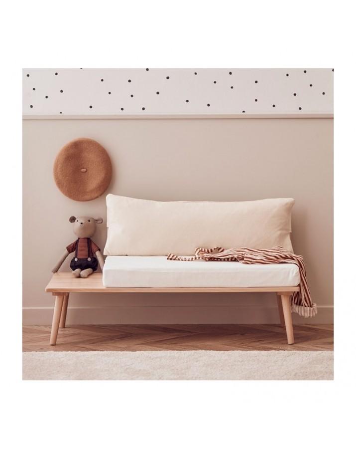 Žema moderni vaikiška sofa su integruotu staliuku