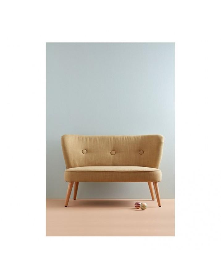 Stilinga vaikiška sofa (rusva)