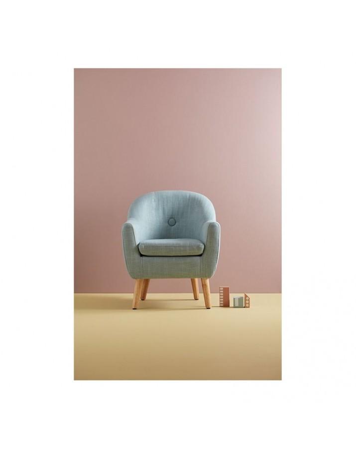 Modernus vaikiškas fotelis (melsvas)
