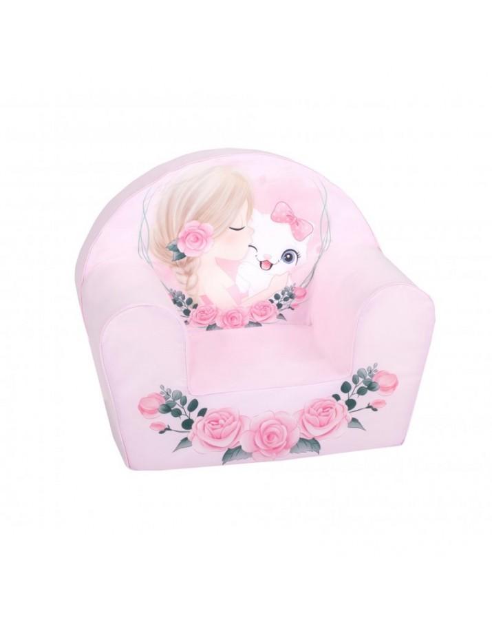 """Rožinis foteliukas """"Meilė tarp rožių"""""""