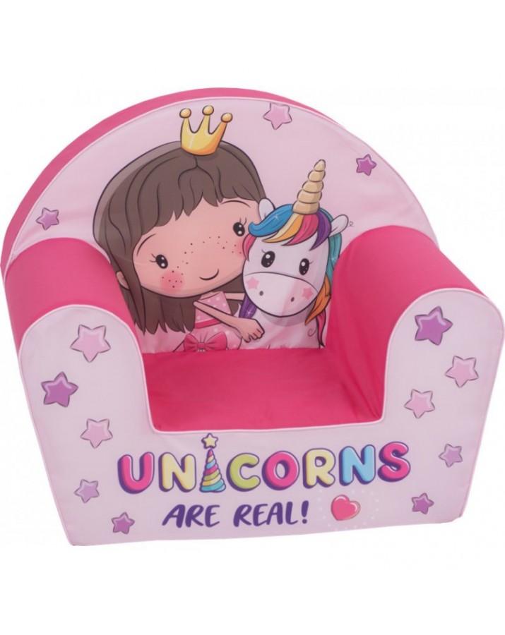 """Vaikiškas foteliukas """"Princesė ir ponis"""""""