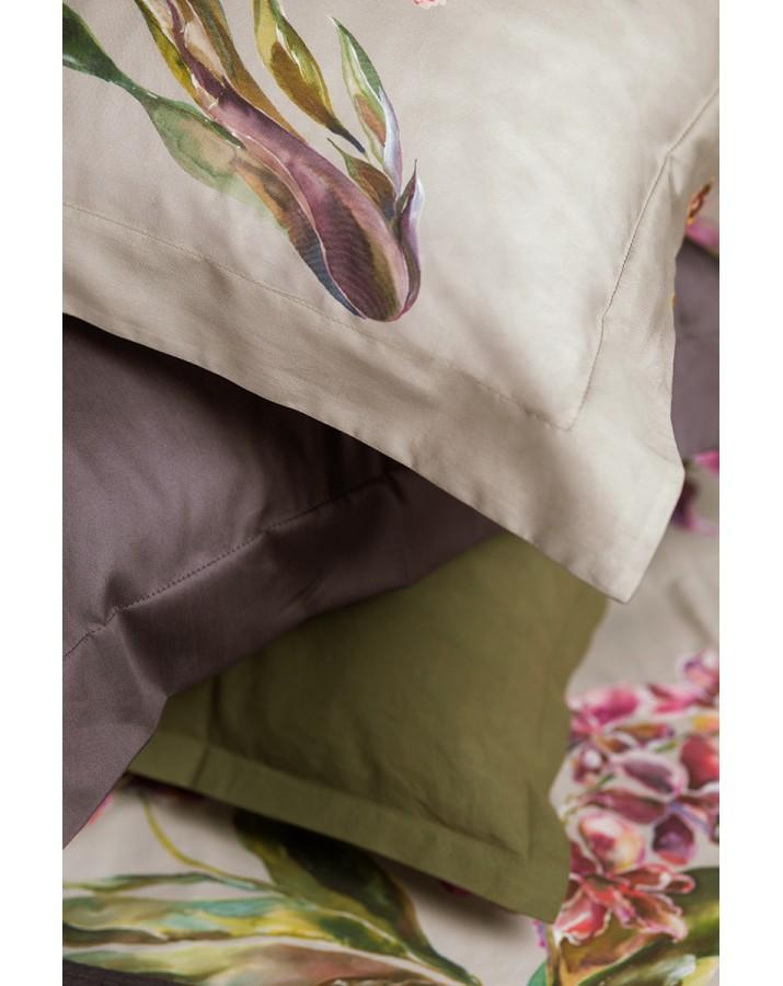 """Satino patalynės komplektas """"Orchids Almond"""""""