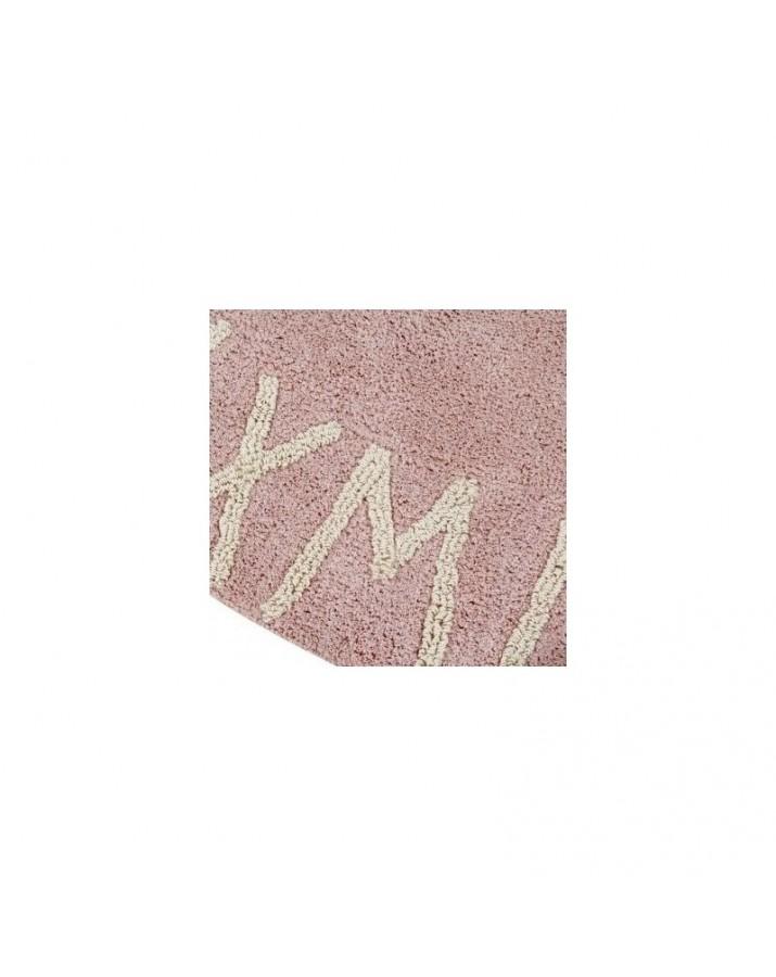 Rožinis skalbiamas kilimas ABC