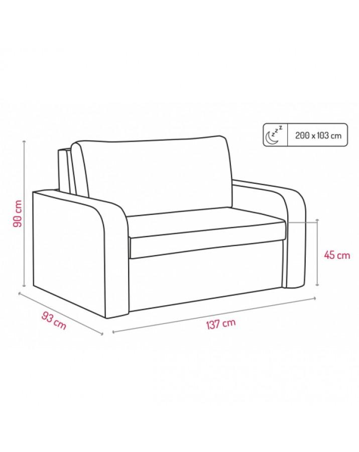 "Dvivietė sofa ""Viole.."