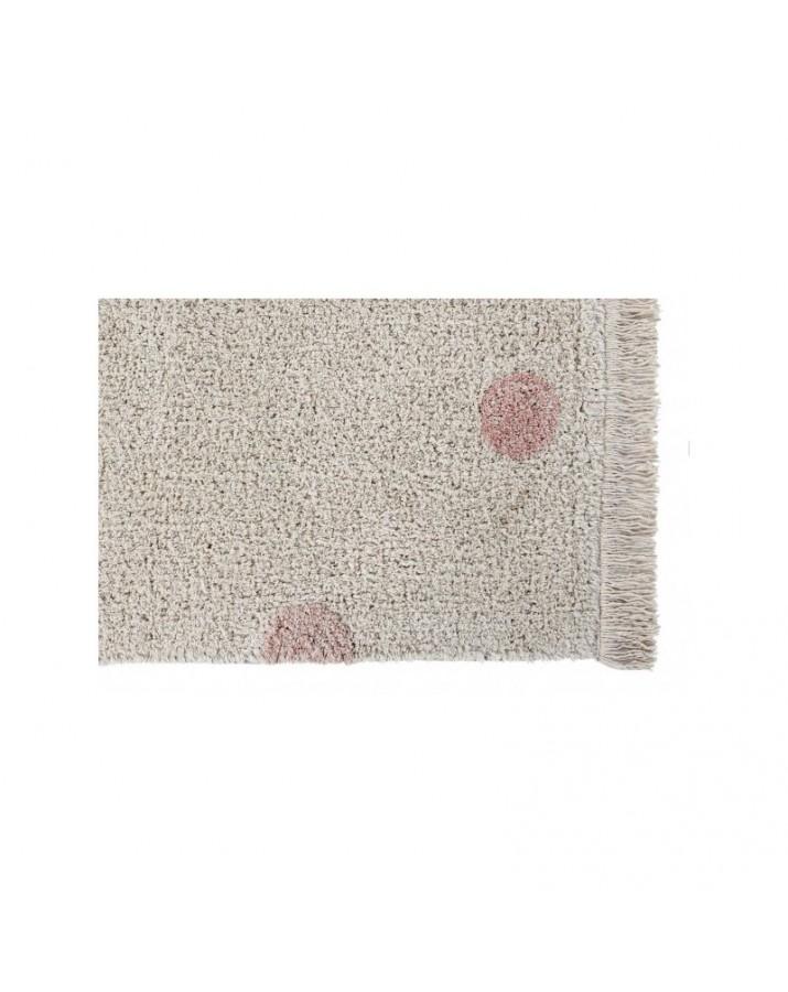 Skalbiamas kilimas su rožiniais taškučiais Hippy Dots