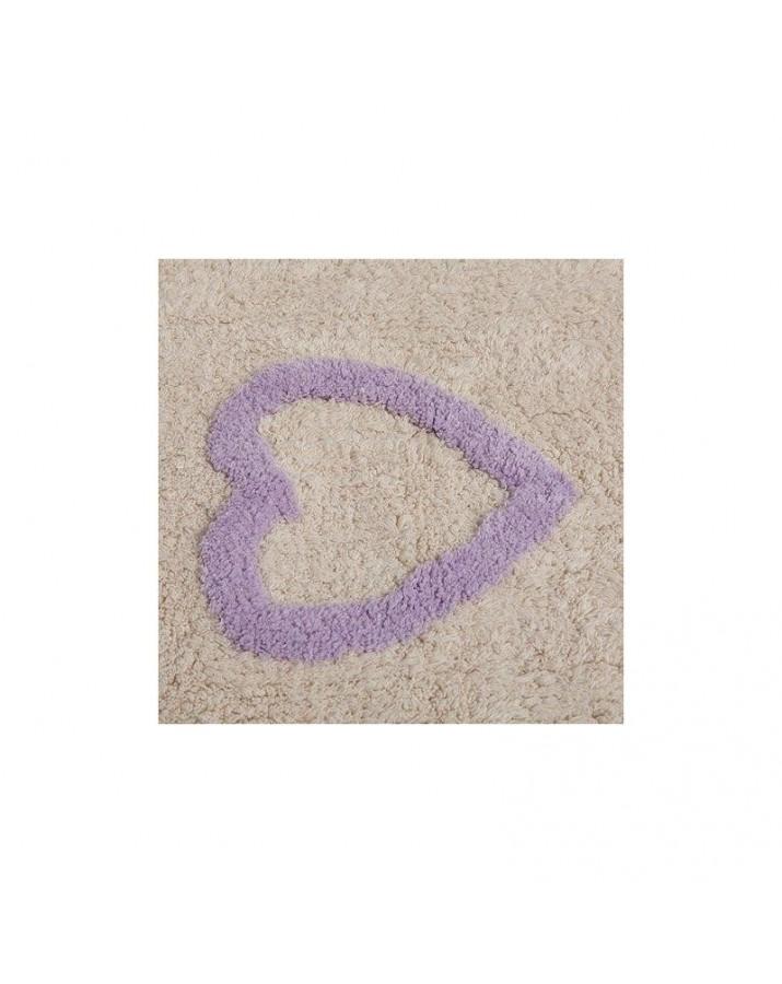 Margas skalbiamas kilimas Mielos Širdelės