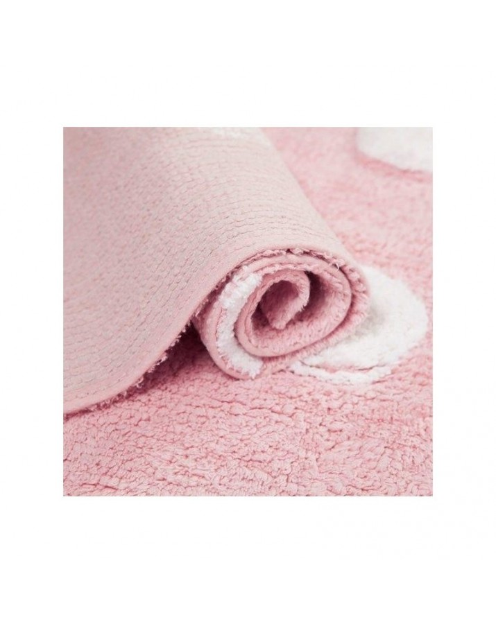 Rožinis skalbiamas kilima..