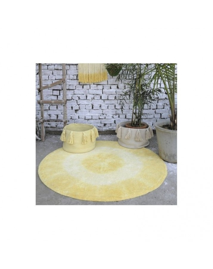 Geltonas apvalus skalbiam..