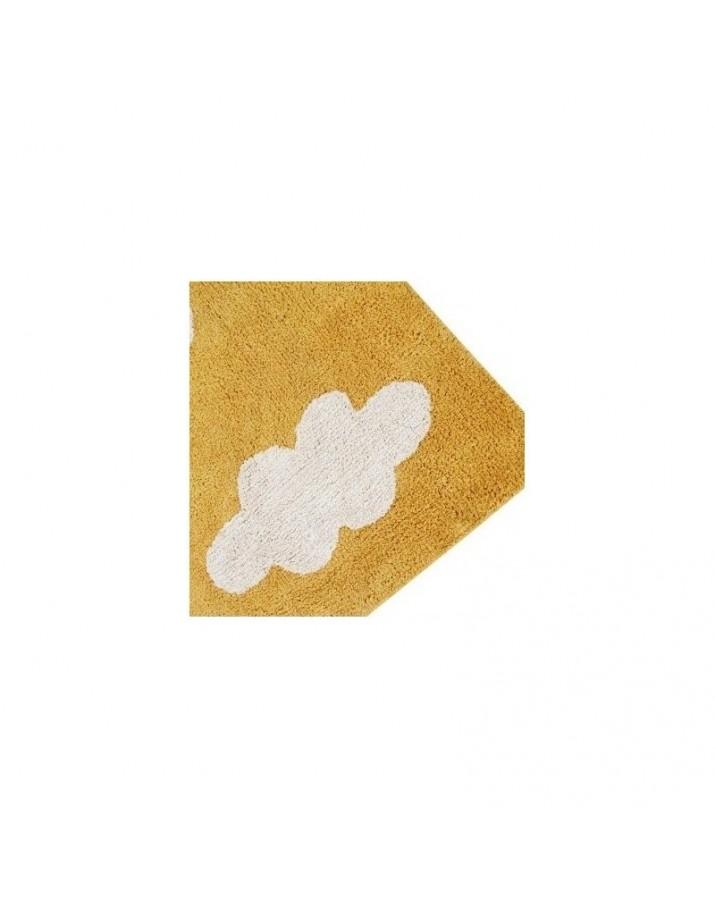 Geltonas skalbiamas kilim..