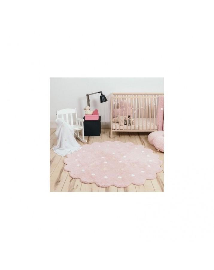 Rožinis skalbiamas kilimas Sausainiukas