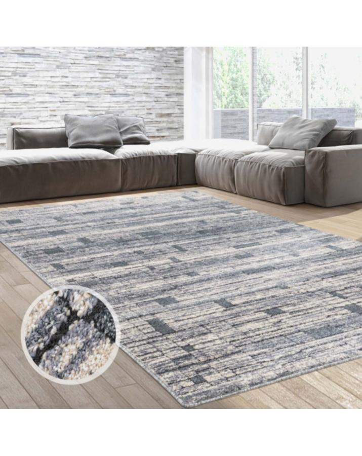Modernus kilimas su kvadratėliais