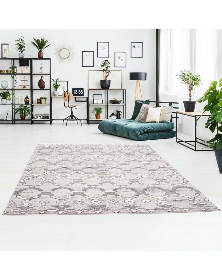 Marokietiško stiliaus pilkas kilimas