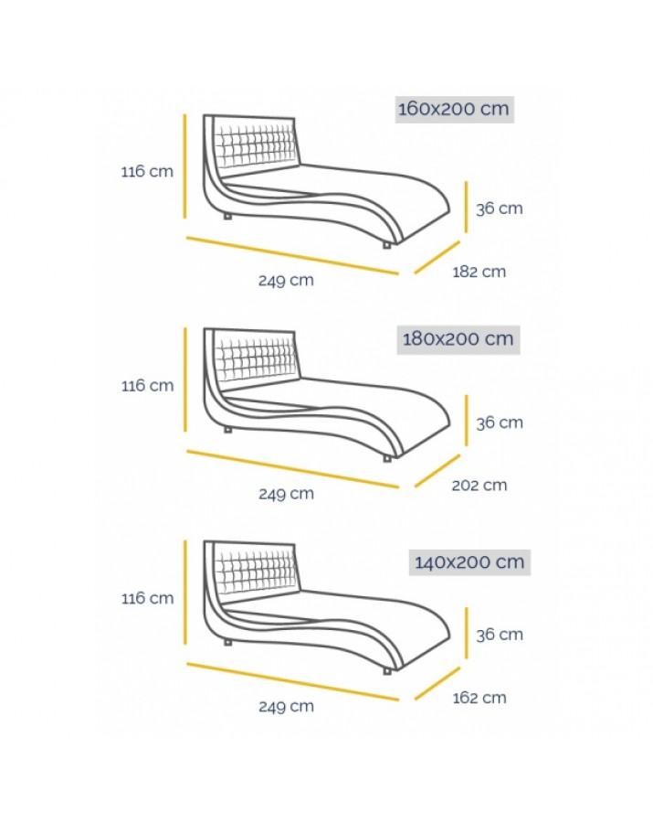Dvigulė lova Kilham