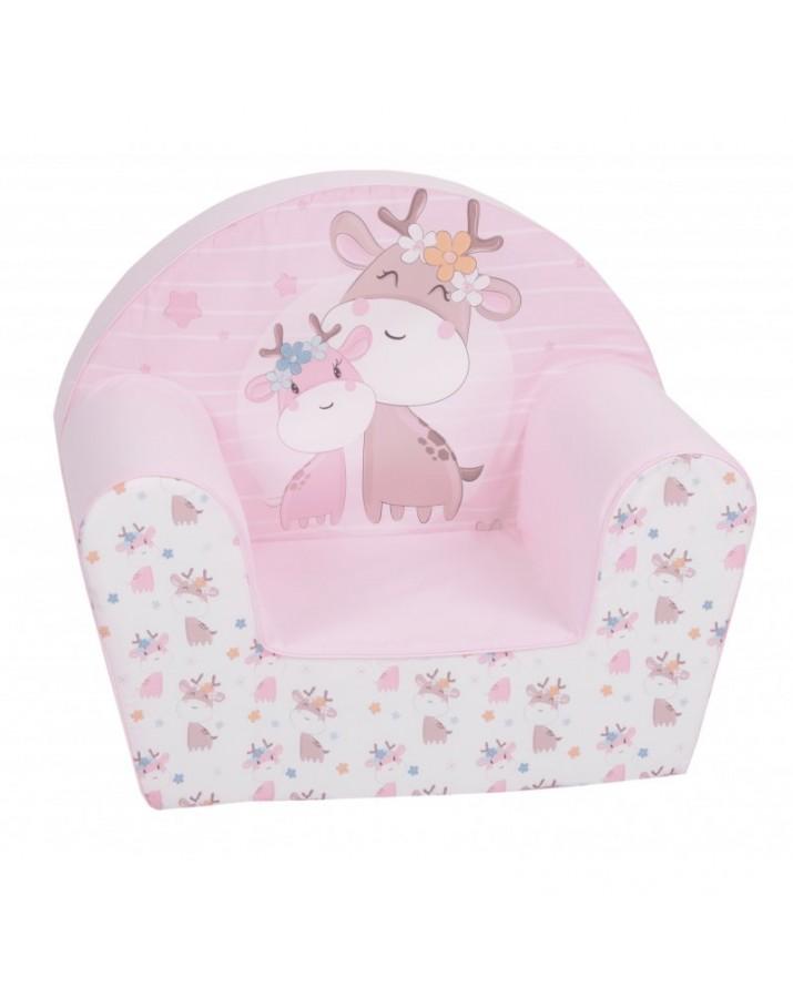 """Vaikiškas foteliukas """"Rožinės žirafėlės"""""""