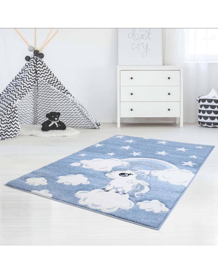 """Mėlynas vaikiškas kilimas """"Ponis"""""""