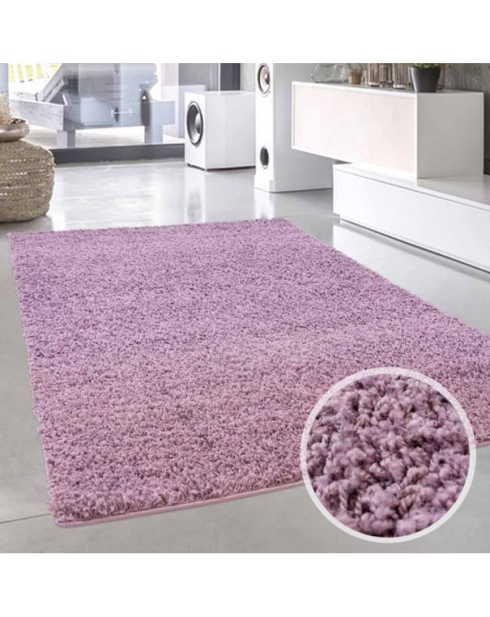 Violetinis minkštas kilim..