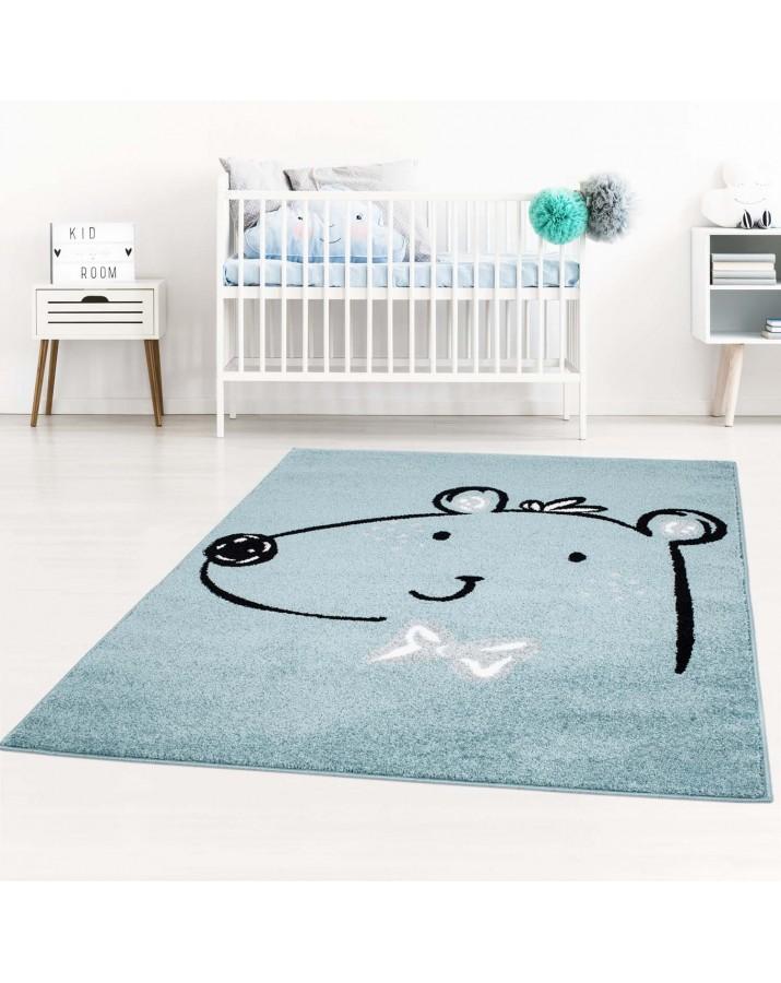 Vaikiškas mėlynas kilimas..