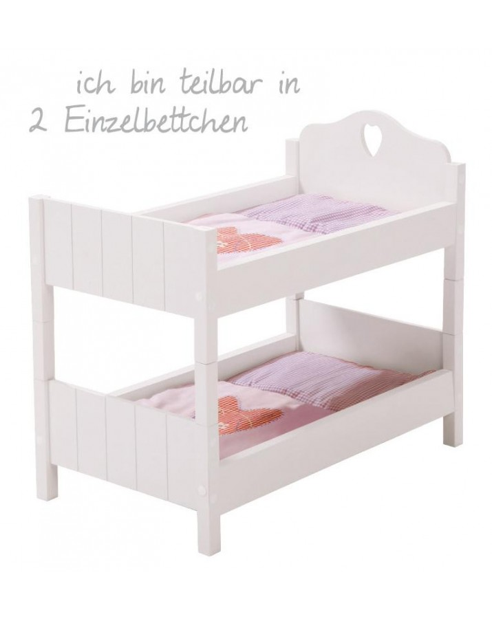 Dviaukštė lova lėlėms Fairy Tale