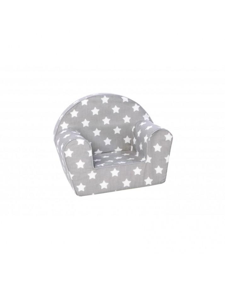 Pilkas foteliukas su žvaigždelėmis