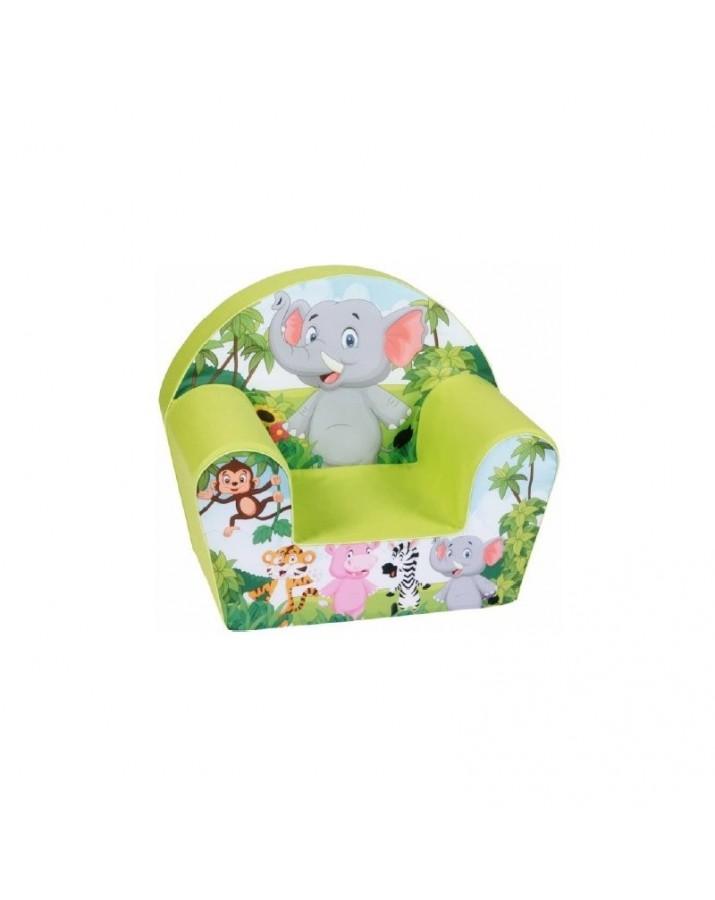 """Vaikiškas foteliukas """"Džiunglių žvėreliai"""""""
