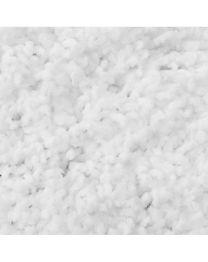 Švelnus baltas kilimas Shaggy Uni