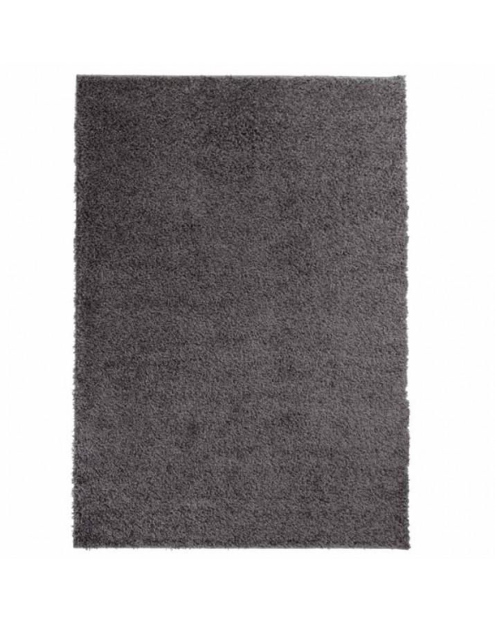 Švelnus tamsiai pilkas kilimas Shaggy Uni