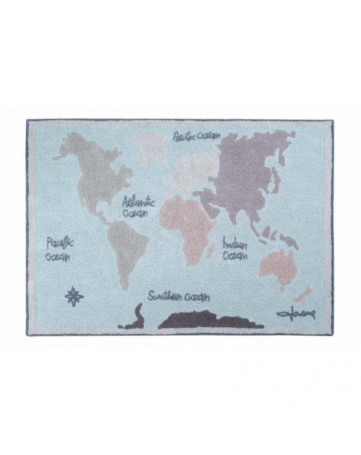 """Skalbiamas kilimas """"Pasaulio atlasas"""""""