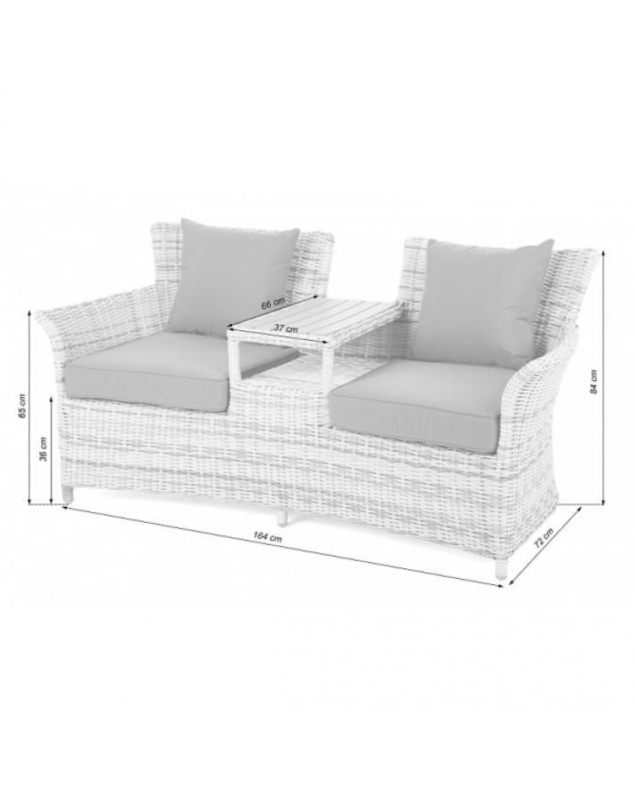 Dvivietė sofa su staliuku