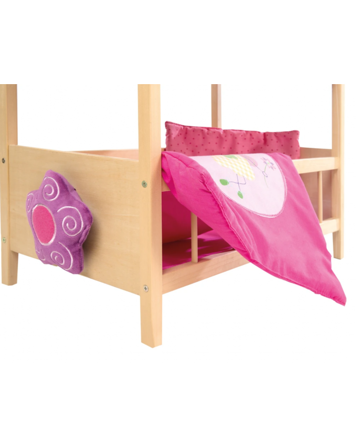Dviaukštė lova lėlėms Happy Fairy